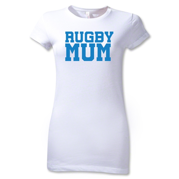 Rugby MUM Junior Women's T-Shirt (White)