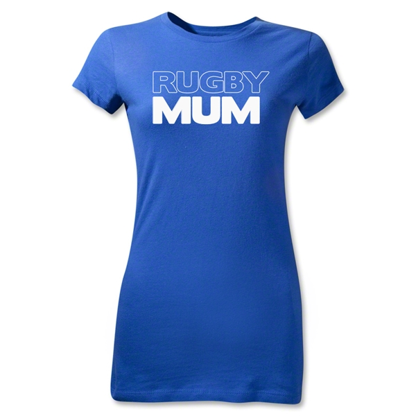 Rugby Mum Junior Women's T-Shirt (Blue)