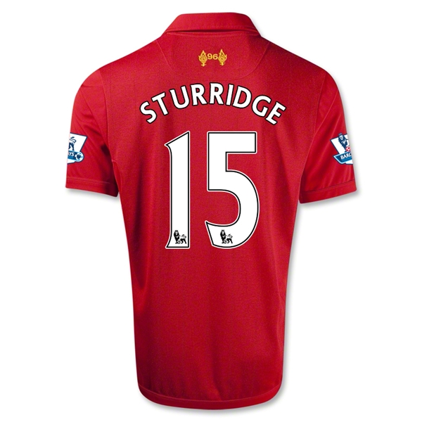 Liverpool 12/13 STURRIDGE Home Soccer Jersey