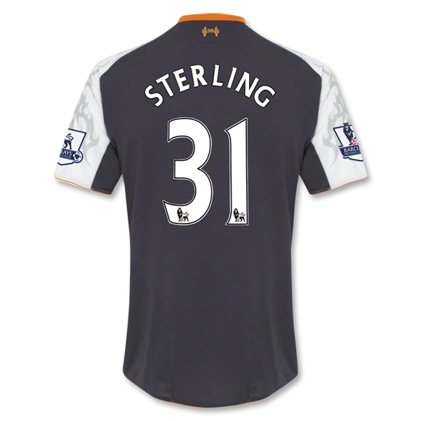 Liverpool 12/13 STERLING Third Soccer Jersey