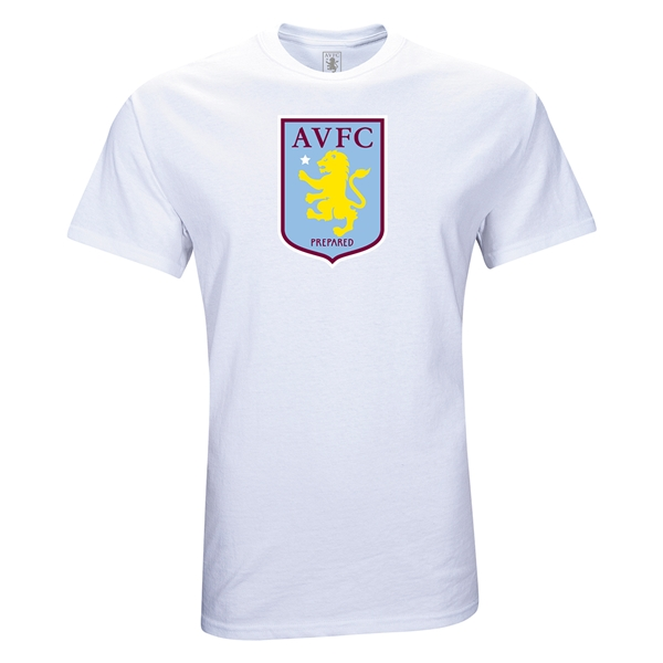 Aston Villa Crest Youth T-Shirt (White)