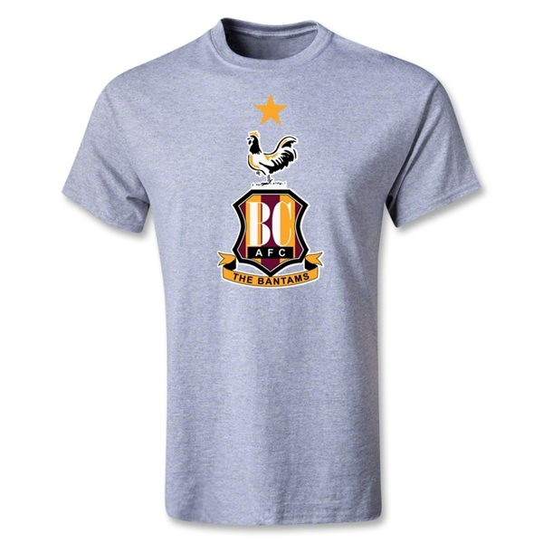 Bradford City Youth Crest T-Shirt (Gray)