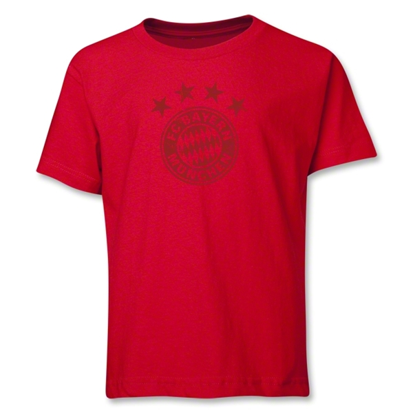 Bayern Munich Team Badge Youth T-Shirt (Red)