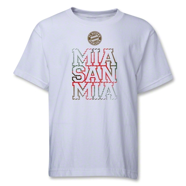 Bayern Munich Mia San Mia Youth T-Shirt (White)