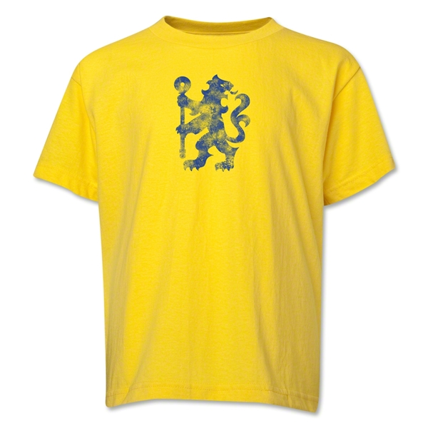 Chelsea Distressed Lion Youth T-Shirt (Yellow)