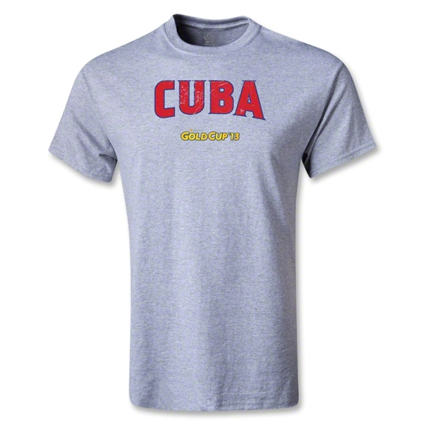 CONCACAF Gold Cup 2013 Youth Cuba T-Shirt (Gray)