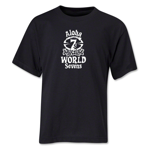 Aloha World Sevens Youth T-Shirt (Black)