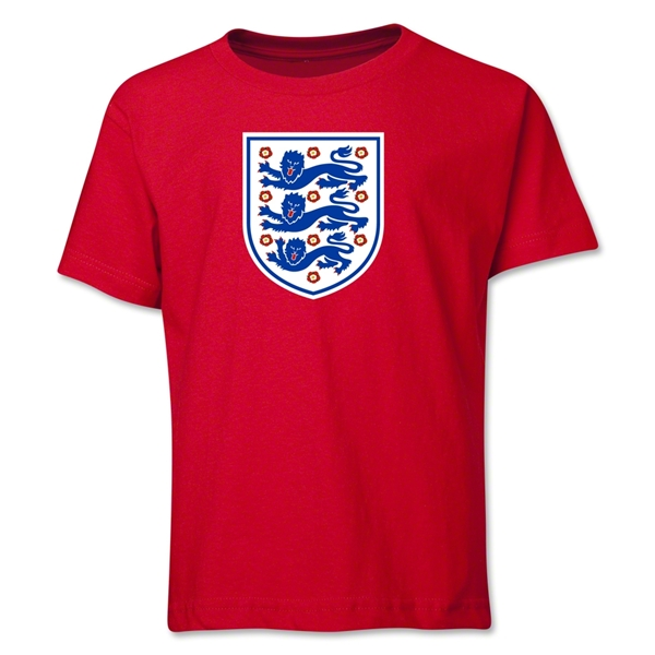 England Core Youth T-Shirt (Red)