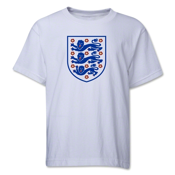 England Core Youth T-Shirt (White)