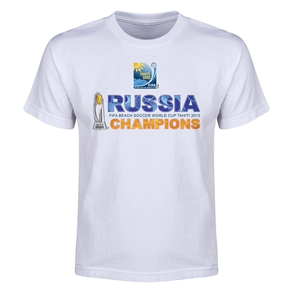 Russia FIFA Beach Cup 2013 Winners Youth T-Shirt (White)