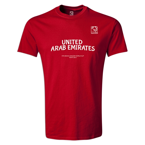 FIFA Beach World Cup 2013 Youth United Arab Emirates T-Shirt (Red)