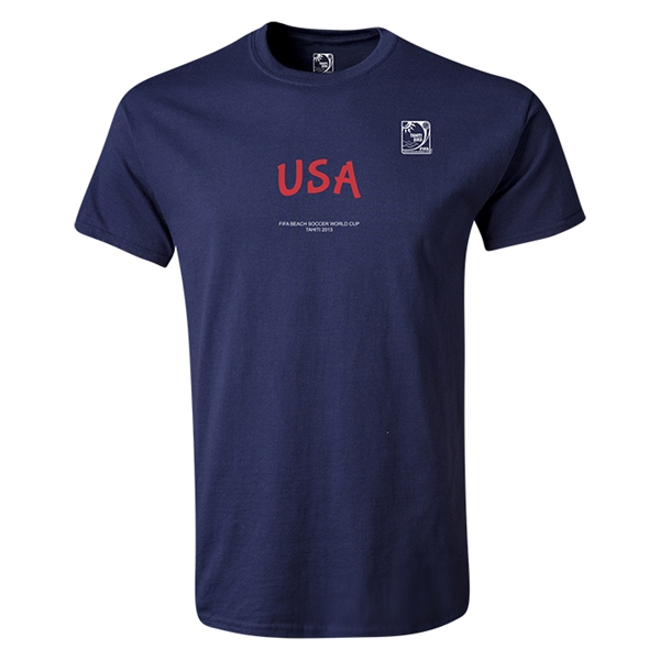 FIFA Beach World Cup 2013 Youth USA T-Shirt (Navy)