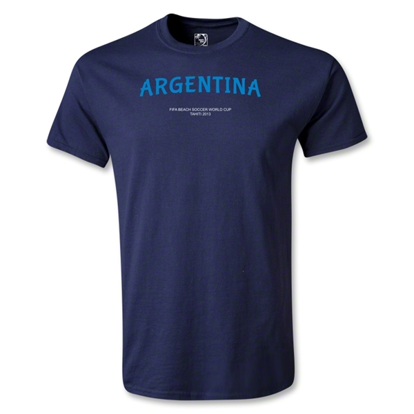 Argentina FIFA Beach World Cup 2013 Youth T-Shirt (Navy)