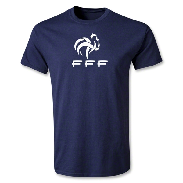 France FFF Youth T-Shirt (Navy)