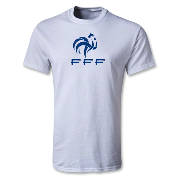 France FFF Youth T-Shirt (White)