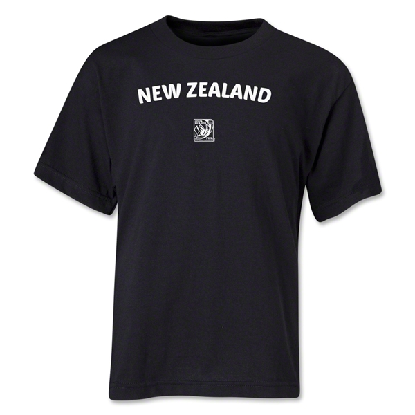 New Zealand FIFA U-17 Women's World Cup Costa Rica 2014 Youth Core T-Shirt (Black)