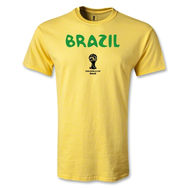 Brazil 2014 FIFA World Cup Brazil(TM) Youth Core T-Shirt (Yellow)