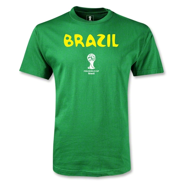 Brazil 2014 FIFA World Cup Brazil(TM) Youth Core T-Shirt (Green)