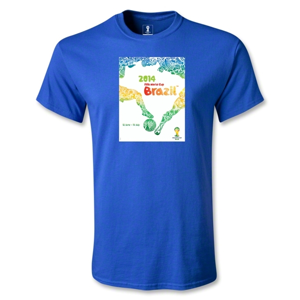 2014 FIFA World Cup Brazil(TM) Official Event Poster Youth T-Shirt (Royal)