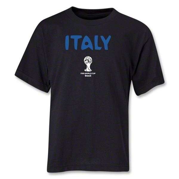 Italy 2014 FIFA World Cup Brazil(TM) Youth Core T-Shirt (Black)