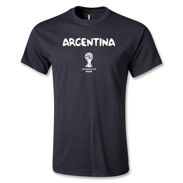 Argentina 2014 FIFA World Cup Brazil(TM) Youth Core T-Shirt (Black)