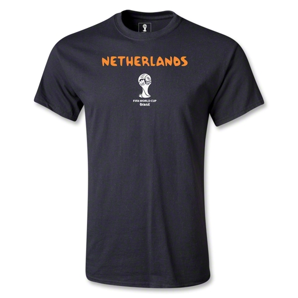 Netherlands 2014 FIFA World Cup Brazil(TM) Youth Core T-Shirt (Black)