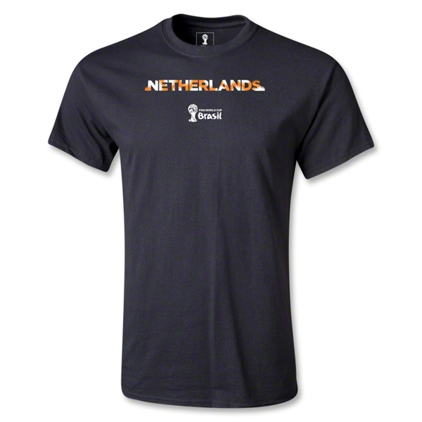 Netherlands 2014 FIFA World Cup Brazil(TM) Youth Palm T-Shirt (Black)
