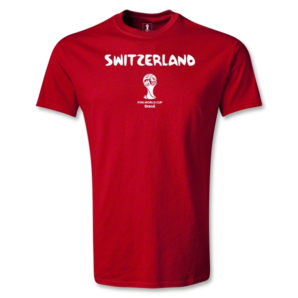 Switzerland 2014 FIFA World Cup Brazil(TM) Youth Core T-Shirt (Red)
