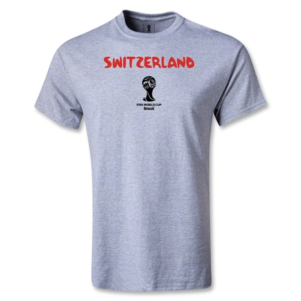 Switzerland 2014 FIFA World Cup Brazil(TM) Youth Core T-Shirt (Grey)