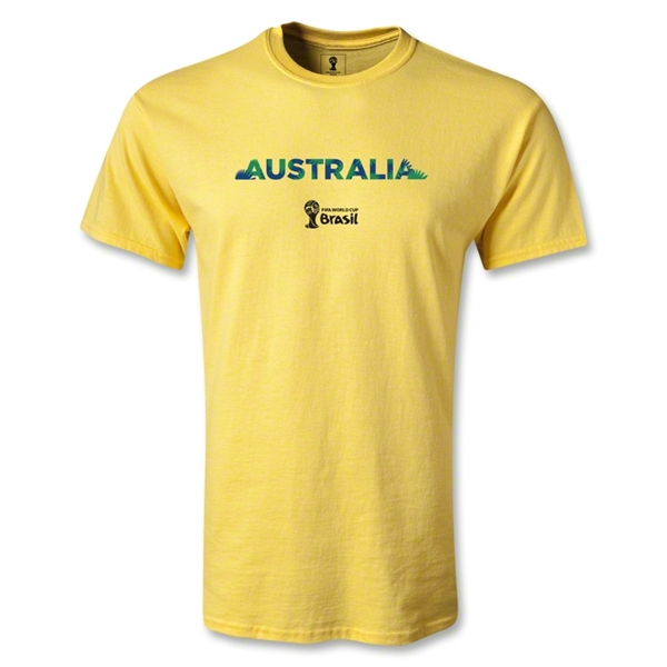 Australia 2014 FIFA World Cup Brazil(TM) Youth Palm T-Shirt (Yellow)