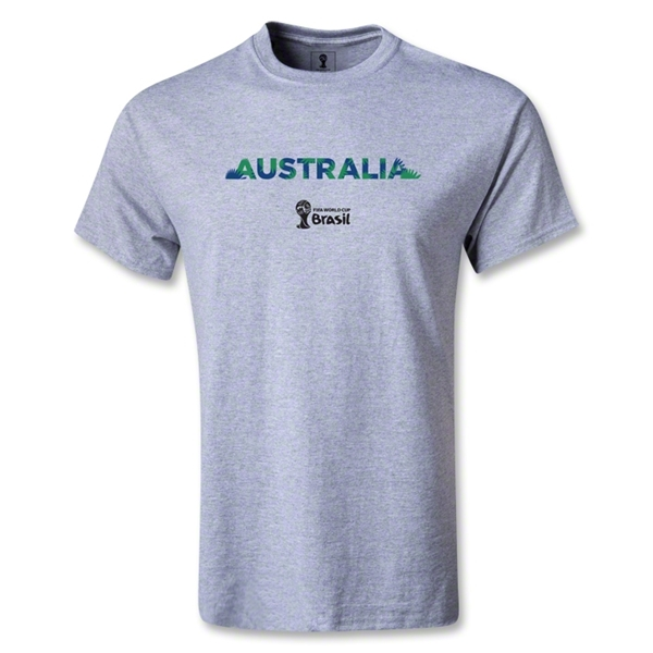 Australia 2014 FIFA World Cup Brazil(TM) Youth Palm T-Shirt (Gray)