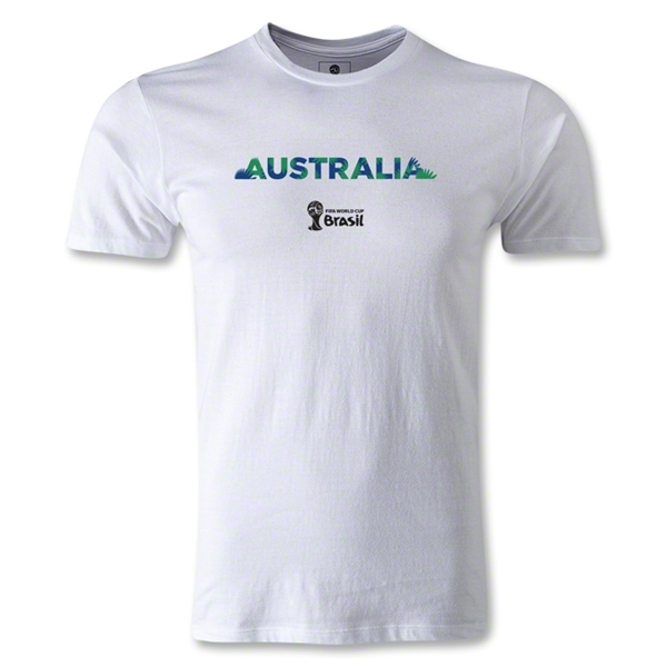 Australia 2014 FIFA World Cup Brazil(TM) Youth Palm T-Shirt (White)