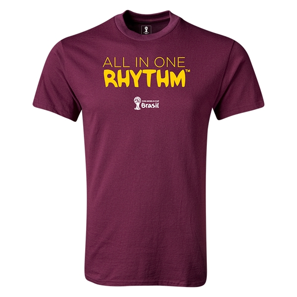 2014 FIFA World Cup Brazil(TM) Youth All In One Rhythm T-Shirt (Maroon)
