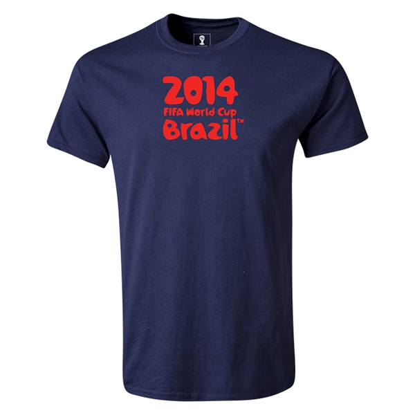2014 FIFA World Cup Brazil(TM) Youth Logotype T-Shirt (Navy)