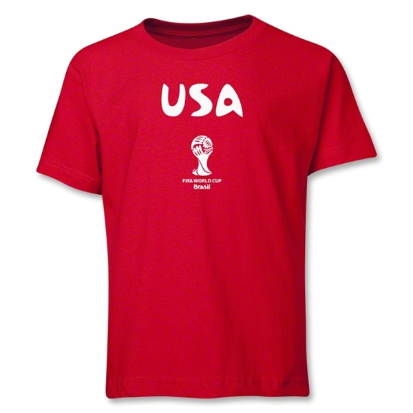 USA 2014 FIFA World Cup Brazil(TM) Youth Core T-Shirt (Red)