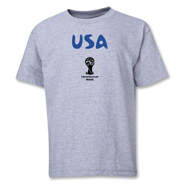 USA 2014 FIFA World Cup Brazil(TM) Youth Core T-Shirt (Grey)
