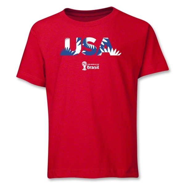 USA 2014 FIFA World Cup Brazil(TM) Youth Palm T-Shirt (Red)