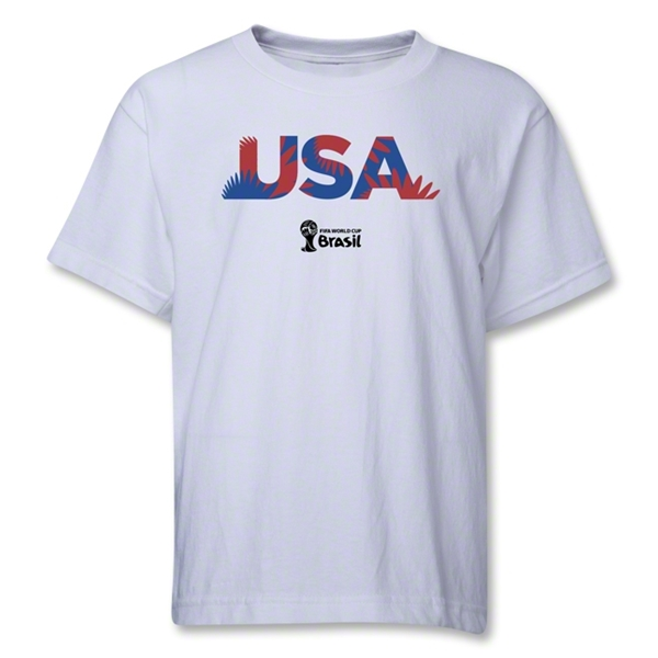 USA 2014 FIFA World Cup Brazil(TM) Youth Palm T-Shirt (White)