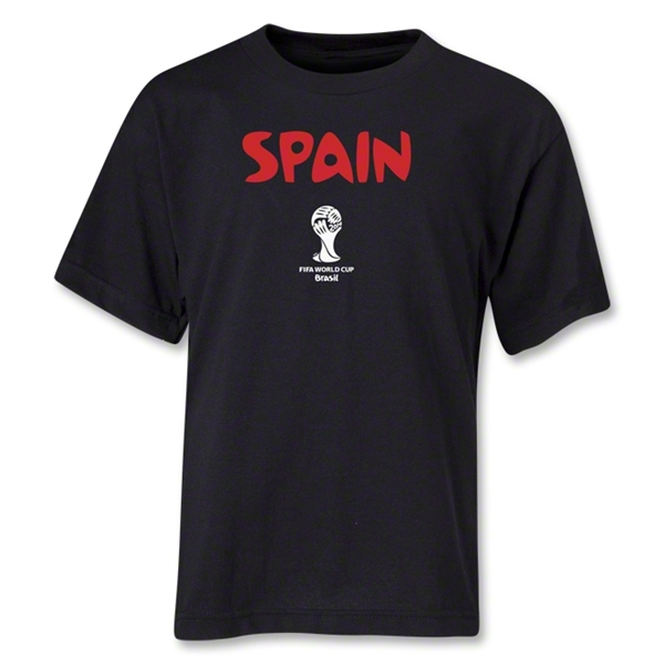 Spain 2014 FIFA World Cup Brazil(TM) Youth Core T-Shirt (Black)
