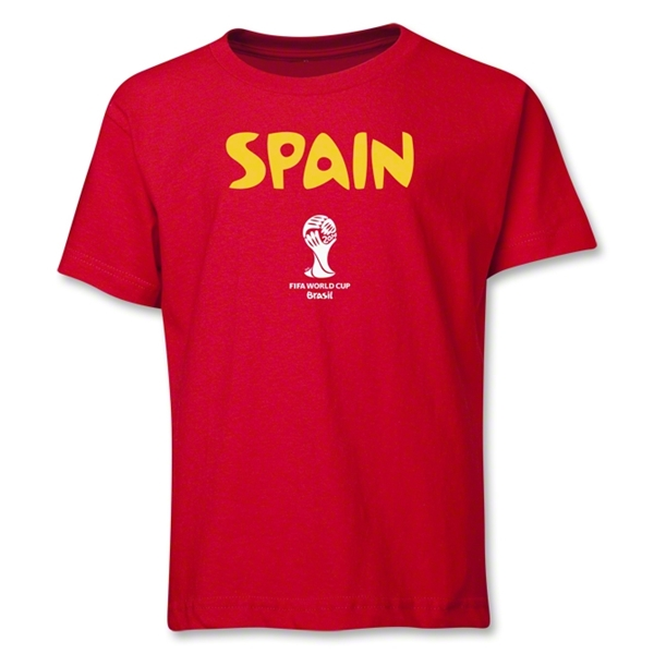 Spain 2014 FIFA World Cup Brazil(TM) Youth Core T-Shirt (Red)