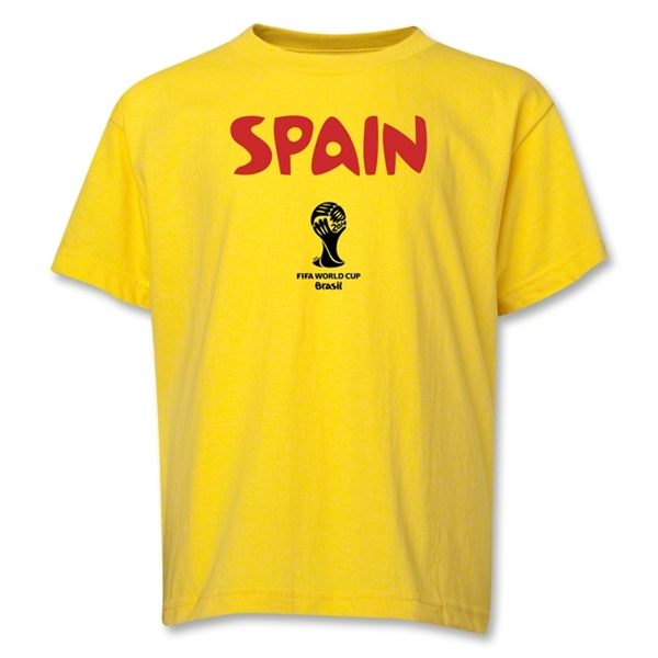Spain 2014 FIFA World Cup Brazil(TM) Youth Core T-Shirt (Yellow)