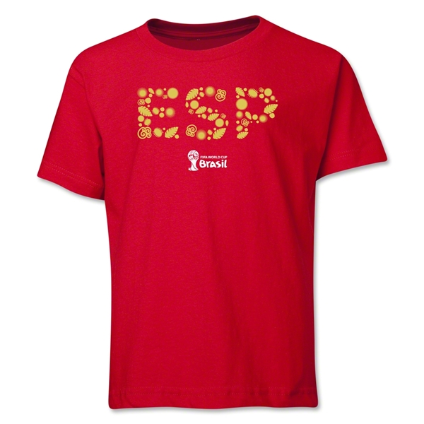 Spain 2014 FIFA World Cup Brazil(TM) Youth Elements T-Shirt (Red)