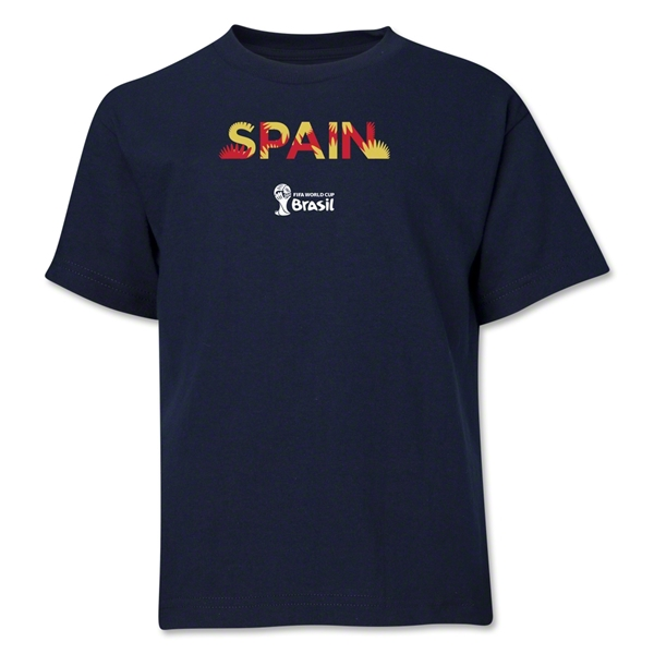 Spain 2014 FIFA World Cup Brazil(TM) Youth Palm T-Shirt (Navy)