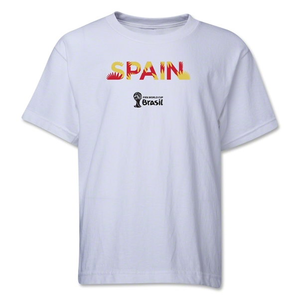 Spain 2014 FIFA World Cup Brazil(TM) Youth Palm T-Shirt (White)