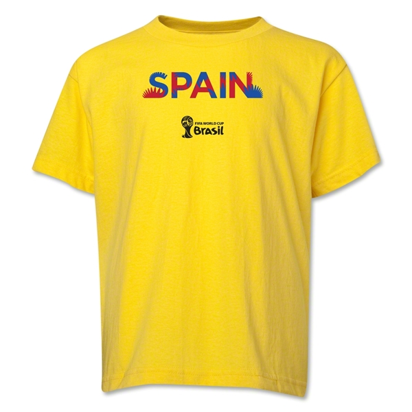 Spain 2014 FIFA World Cup Brazil(TM) Youth Palm T-Shirt (Yellow)