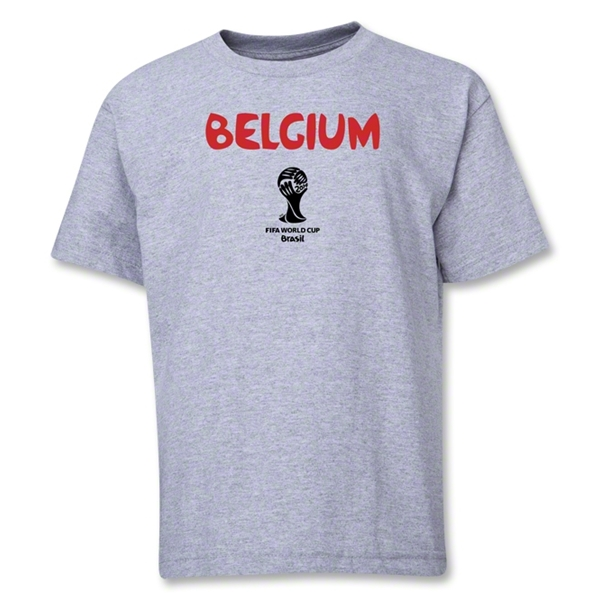 Belgium 2014 FIFA World Cup Brazil(TM) Youth Core T-Shirt (Grey)