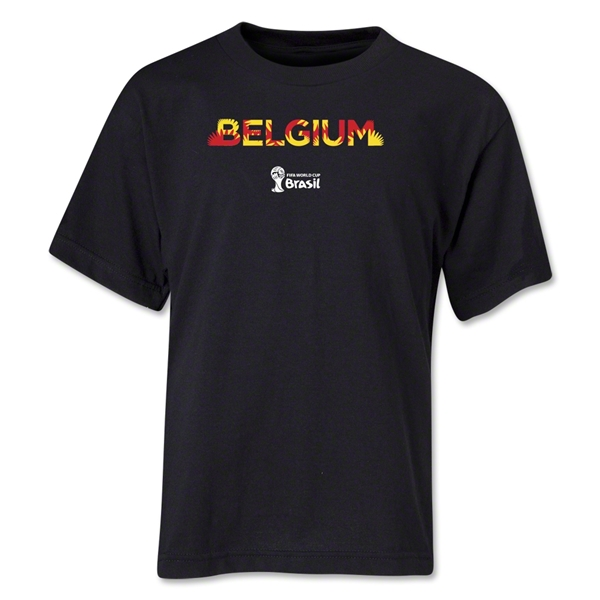 Belgium 2014 FIFA World Cup Brazil(TM) Youth Palm T-Shirt (Black)