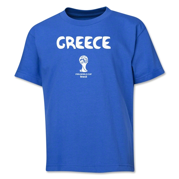 Greece 2014 FIFA World Cup Brazil(TM) Youth Core T-Shirt (Royal)