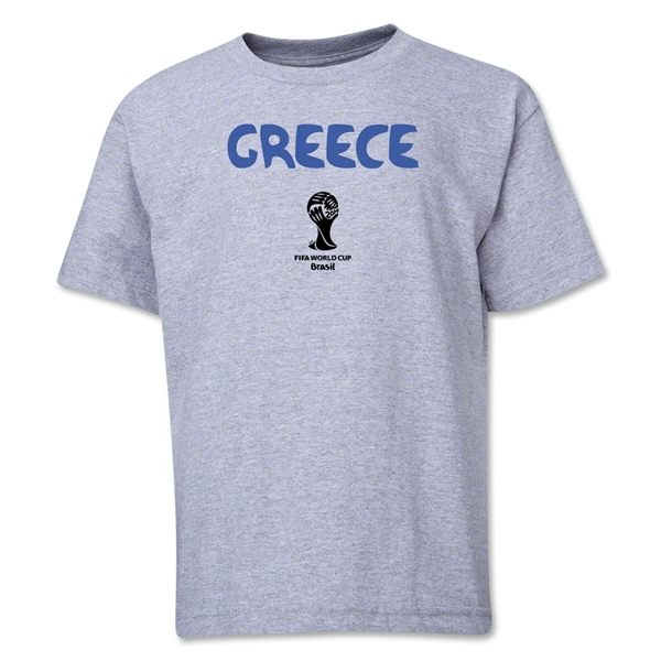 Greece 2014 FIFA World Cup Brazil(TM) Youth Core T-Shirt (Grey)