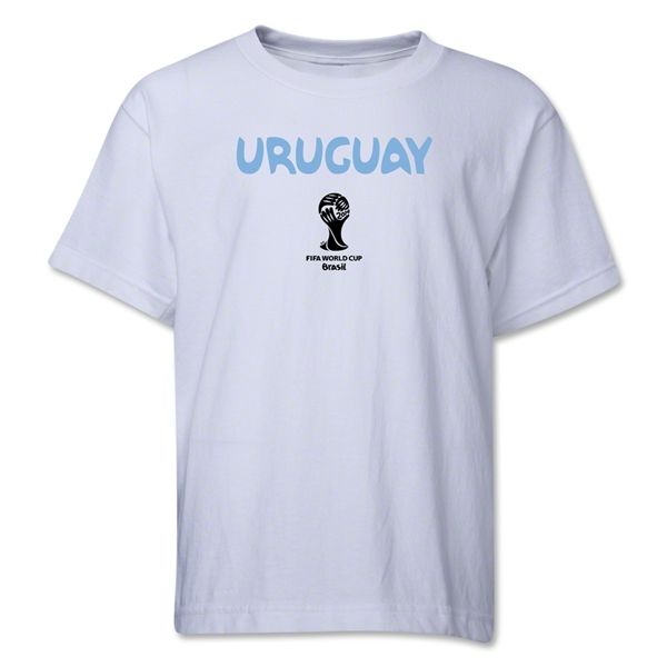 Uruguay 2014 FIFA World Cup Brazil(TM) Youth Core T-Shirt (White)